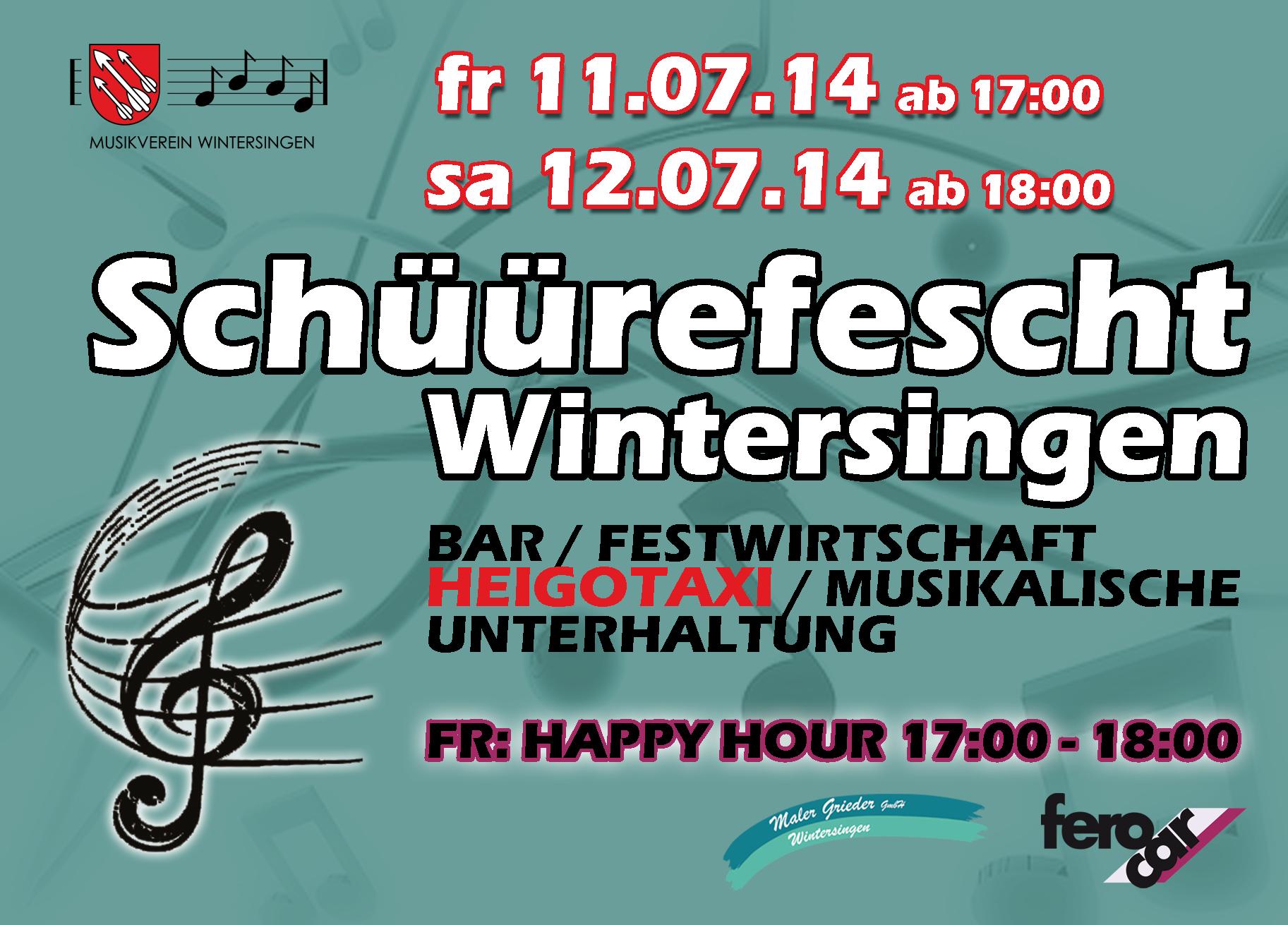 Flyer Schüürefescht Wintersingen 2014