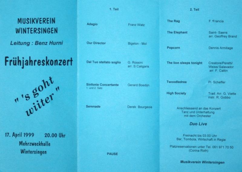 Frühjahreskonzert 1999 s goht wiiter